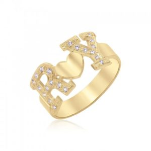 טבעת אותיות של אהבה