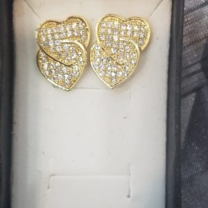 Intertwined Heart Earrings