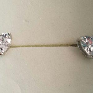 Heart Solitaire Earrings